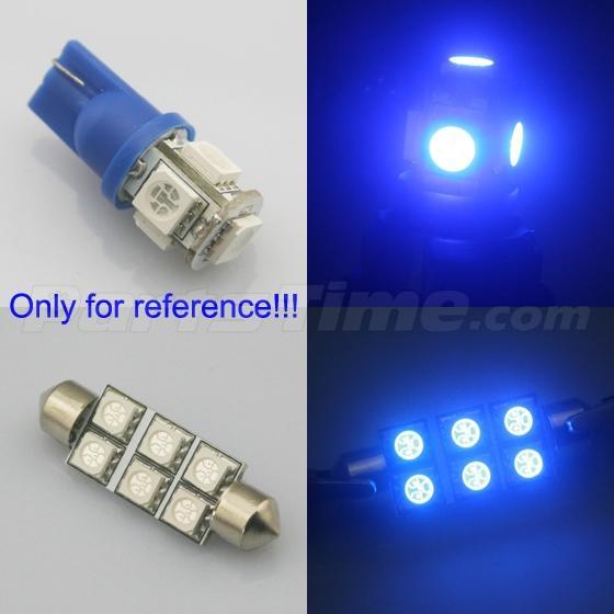 7x Blue Led Light Bulbs Interior Package Deal For Dodge Ram 2009 2015 Ebay