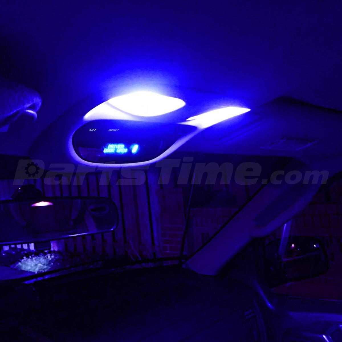 Set Of 4 Blue Led Light T10 43mm Festoon Led Interior Light Package Map Dome Ebay