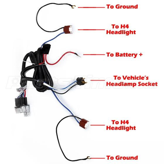 ceramic h4 headlight headlamp h4 light bulb relay wiring harness socket set ebay