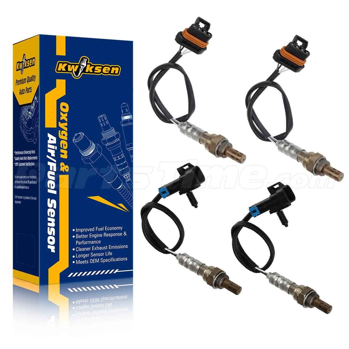 4pcs Oxygen O2 Sensor 1 & 2 For 96-1999 Chevrolet C/K1500