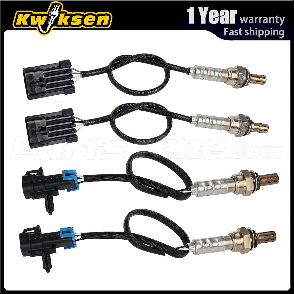 4pcs Oxygen O2 Sensor 1, 2 For 1996-1998 GMC K/C1500