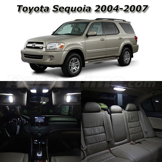 19x White Led Light Interior Bulb Package For 2004 2007 Toyota Sequoia