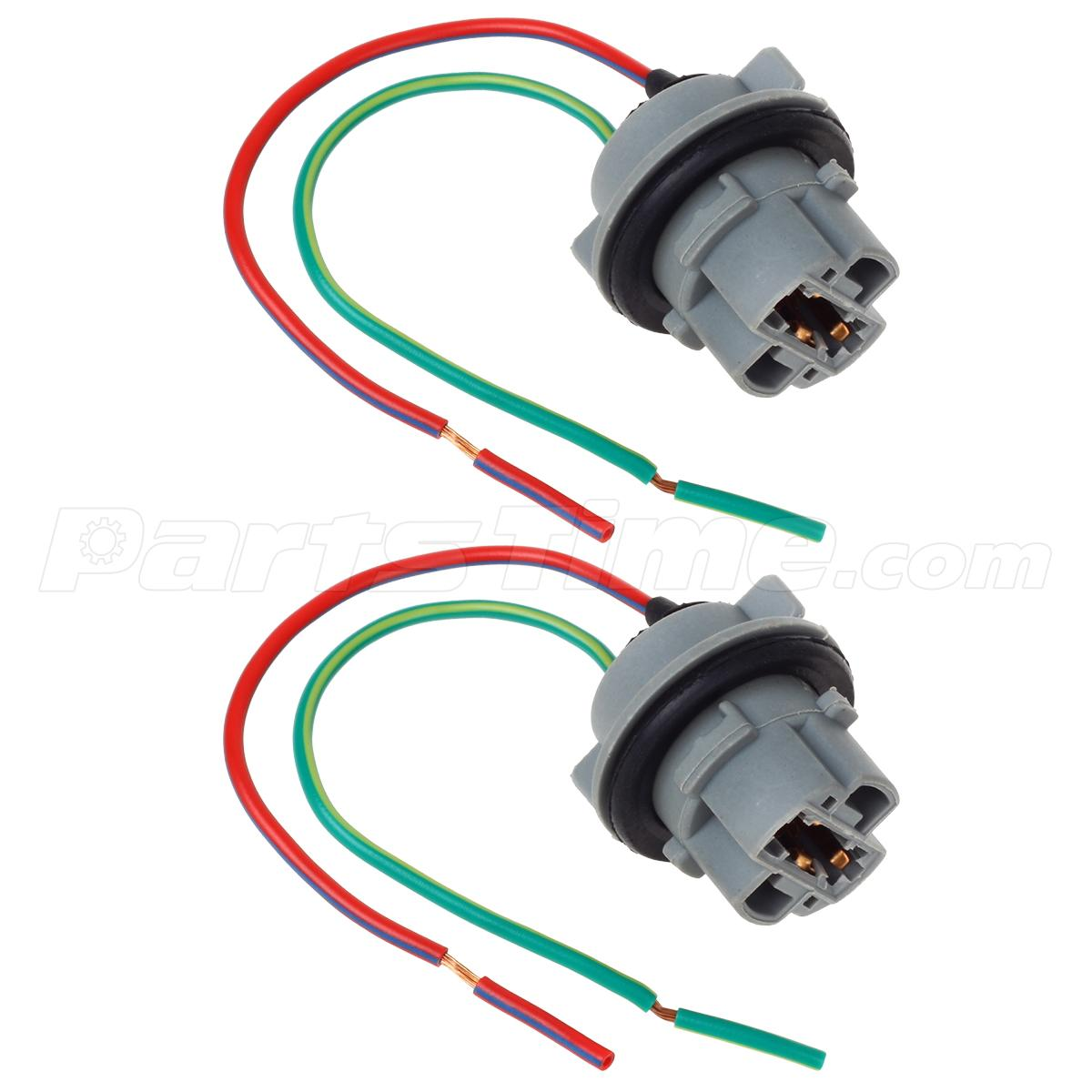 2x socket connector wire harness for brake signal light bulb 7440 t20 w21w ebay