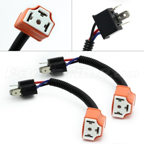 2 pcs h4 9003 ceramic wire harness plug cable headlights connector 1157 2057 2357 replacement plug sockets extened wiring harness tail brake light