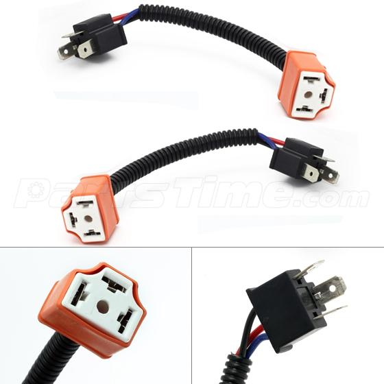 2 pcs h4 9003 ceramic wire harness plug cable headlights connector 2 pcs h4 9003 ceramic wire harness plug cable headlights connector extension