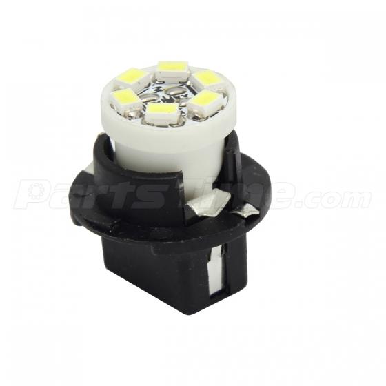 10x T10 16mm Sockets Pc194 W5w 6 Smd White Led For
