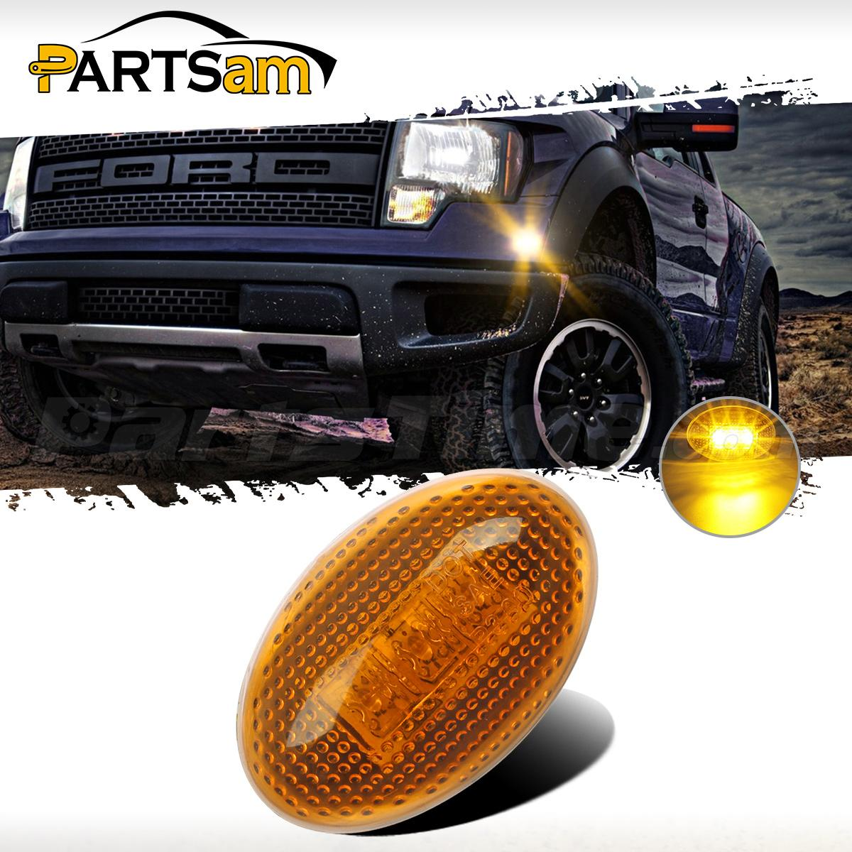 For 99-10 Ford F350 Side Amber Fender Marker Dually Bed