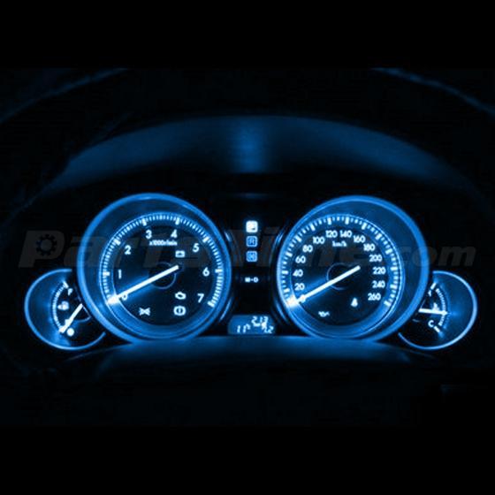 60x T5 74 Led Dashboard Speedometer Gauge Indicator Light: 6x T5 5050 1SMD LED Ice Blue Dashboard, Interior