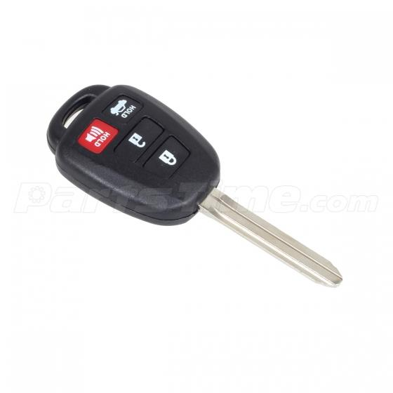 uncut replacement fob key keyless case fob 4 button for 2012 2014 toyota camry ebay. Black Bedroom Furniture Sets. Home Design Ideas