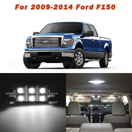 9x For 2009 2014 Ford F150 Interior Lights Package White Led Bulbs Ebay