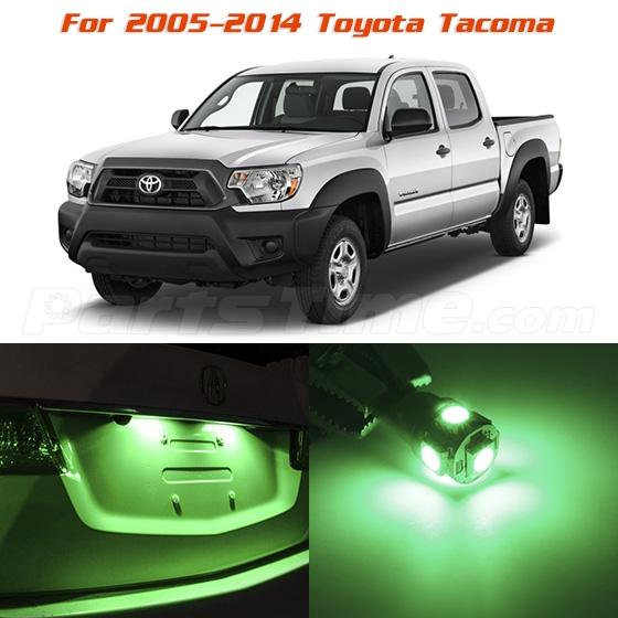5x green interior led lights combo for 2005 2014 toyota - Toyota tacoma led interior lights ...