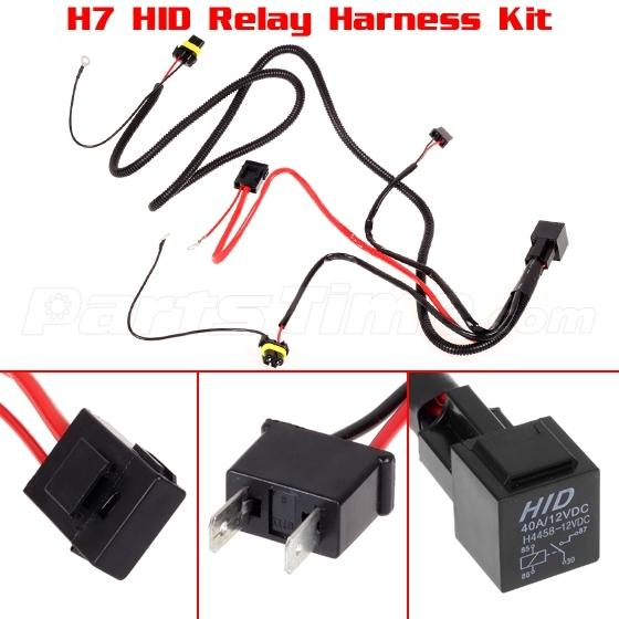 h7 relay wiring harness for hid conversion kit fog lights daytime running light