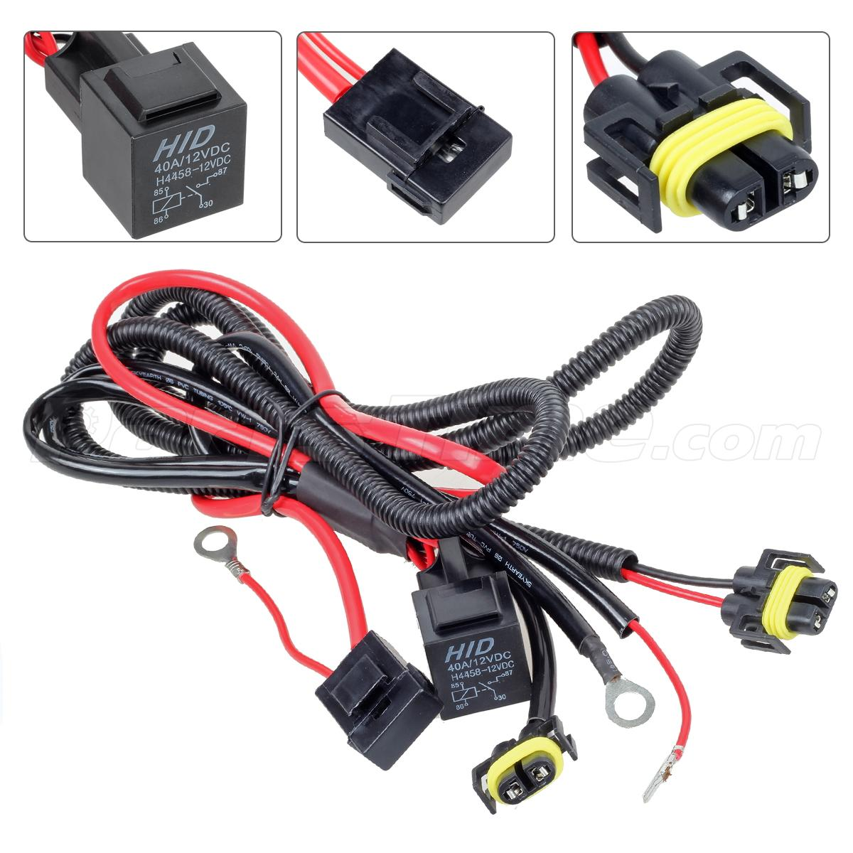 H11 880 881 Headlight Fog Light Drl Relay Wiring Harness For Hid Conversion Kit