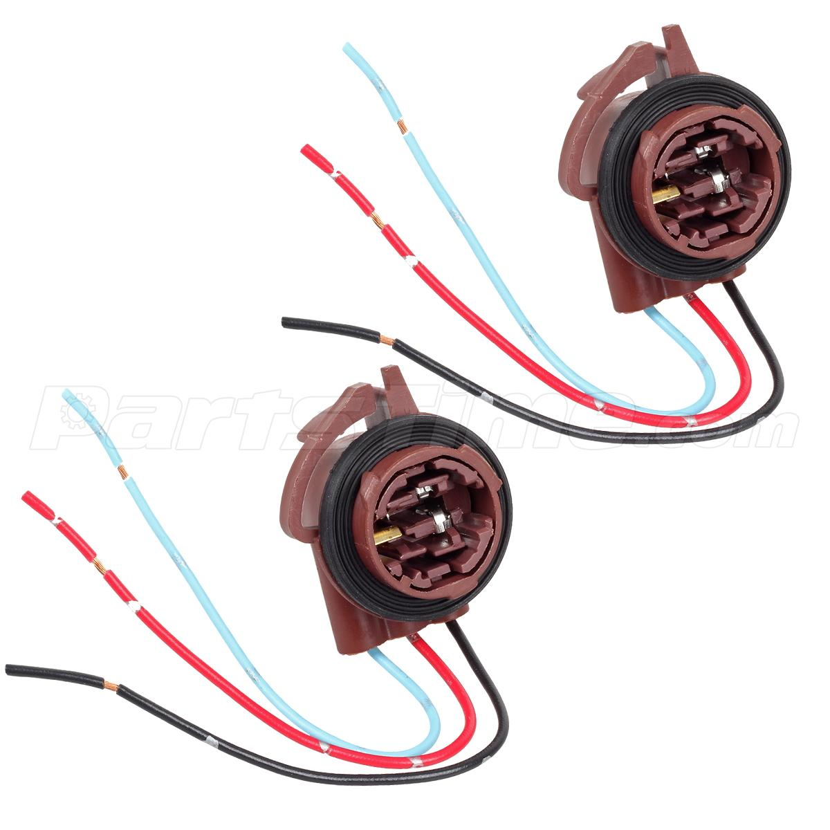 2xfemale socket pigtail plug for standard 3157 3156 3457