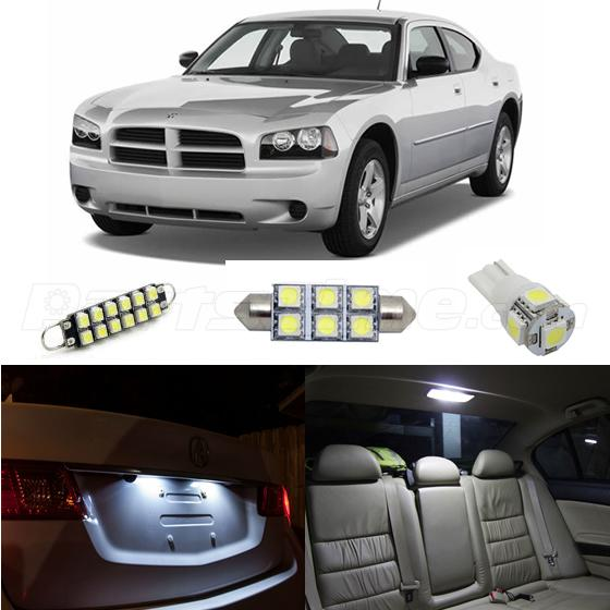 8x Bright White Led Lights Dome Interior Package Kit For 2006 2010 Dodge Charger Ebay