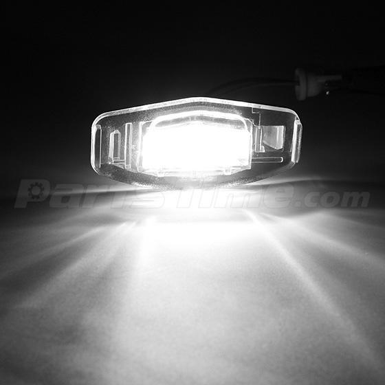 2pcs White LED License Plate Light Pair Rear Lamps For