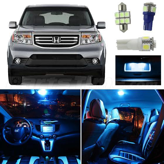 17x Ice Blue Interior Dome Map Led Lights Package Bulb For 2009 2015 Honda Pilot Ebay