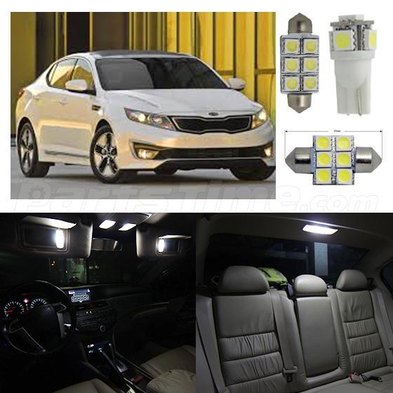 12x Super White Led Package Interior Ligths Bulbs For Kia Optima 2011