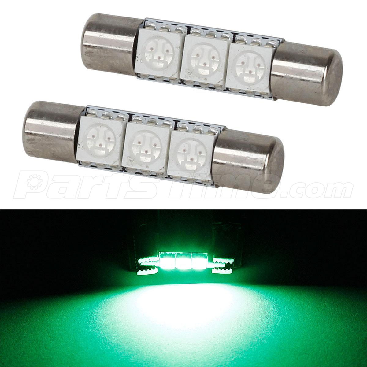 Vanity Light For Car Visor : 2pcs Super Green 3SMD LED Bulb for Car Vanity Mirror Lights Sun Visor Lamp 12V eBay