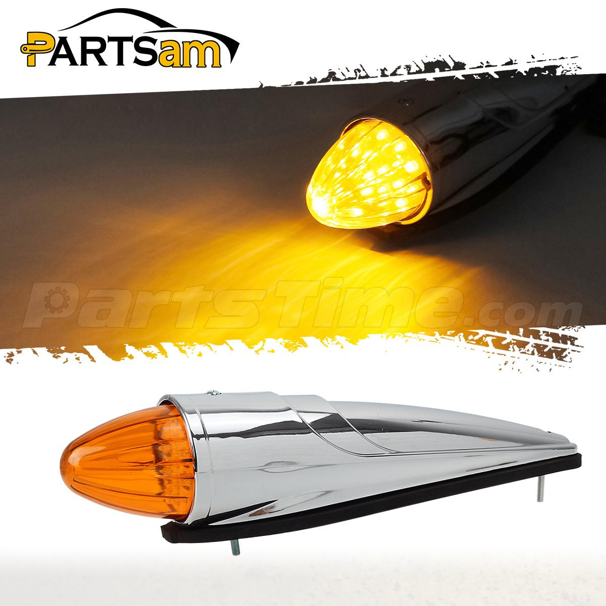 Semi Trailer Lights Led : Led amber semi truck bus rv roof cab marker clearance