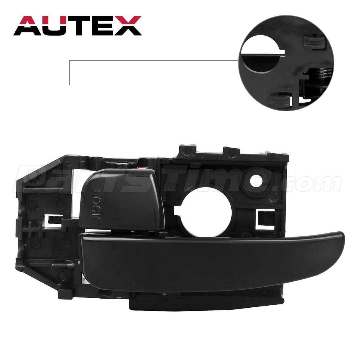 Black Front Left Inside Interior New Door Handle For 2001 2006 Hyundai Elantra Ebay
